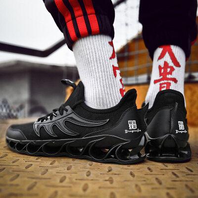 鸿基火龙底专利刀锋飞织鞋带视频运动休闲潮男鞋低帮支持平台活动