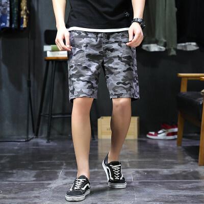 厂家直销运动迷彩短裤男夏季新款大码宽松休闲裤潮牌工装五分裤