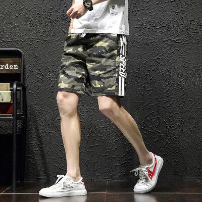2019夏季新款短裤男夏季纯棉大码宽松休闲五分裤外穿沙滩裤