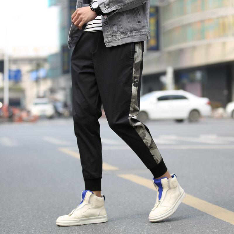 宽松潮牌工装裤男潮流休闲裤ins多口袋超火学生小脚束脚裤