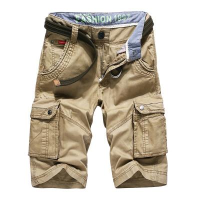 工装短裤男士多口袋休闲中裤深袋五分裤夏天青年纯棉布裤男款宽松