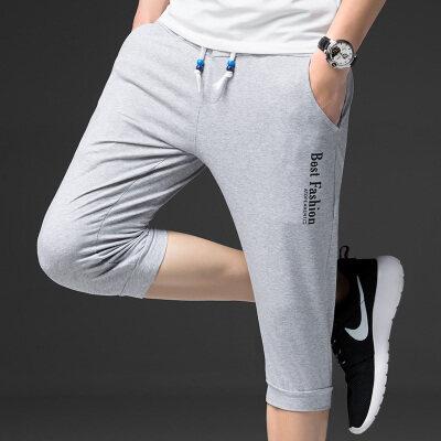 七分裤男夏季男士短裤韩版潮流修身休闲中裤子五7分裤夏天薄男裤