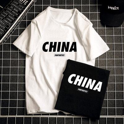 优羽尚夏季纯棉跑量短袖T恤男圆领欧美潮流时尚休闲体恤918