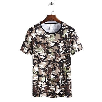 2019新款男士速干休闲T恤加肥加大码短袖透气舒适速干T恤