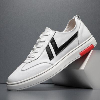 厂家直销休闲鞋男透气真皮牛皮舒适时尚型男社会青年运动跑鞋板鞋