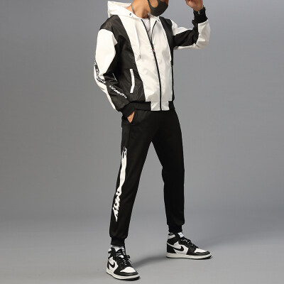 男士外套春秋韩版潮流帅气运动休闲夹克2019新款套装春季工装衣服