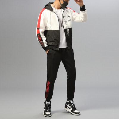 男士外套春秋新款工装韩版潮流学生帅气夹克套装运动休闲春季衣服