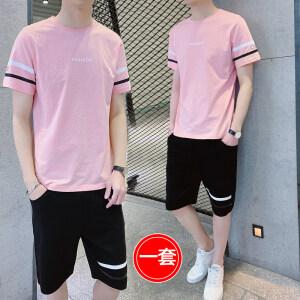 2021 夏季新款短袖短裤套装两件套男装男士运动休闲运动套装