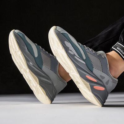 九龙F9000椰子700浅灰月色侃爷同款运动潮鞋男39-44