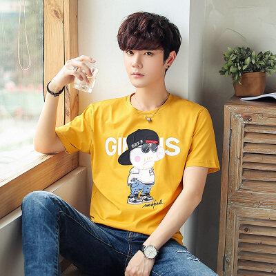 优羽尚夏季圆领半袖时尚潮流韩版短袖T恤男体桖打底衫91762