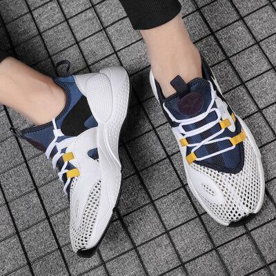 夏季新款男鞋透气网面运动鞋跑步鞋老爹鞋小白鞋
