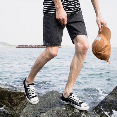 2019夏季新款男士休闲潮流五分牛仔裤弹力中裤