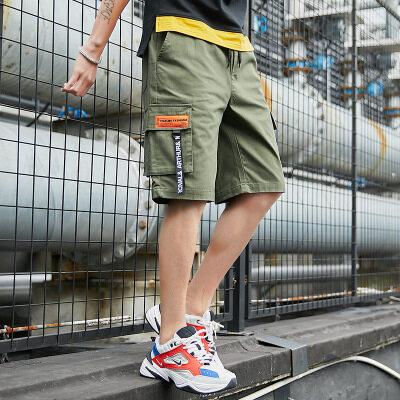 五分裤男士工装裤夏季新款速干短裤大码高弹力多袋休闲裤短裤男