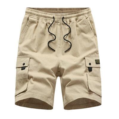 夏季工装短裤男士宽松加厚五分户外裤中裤休闲男旅游短裤多口袋裤