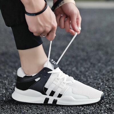 新款鞋子透气跑鞋运动休闲潮流2019潮鞋男士百搭网鞋