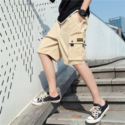 夏季工装短裤男士宽松加厚五分户外裤中裤休闲男旅游短裤