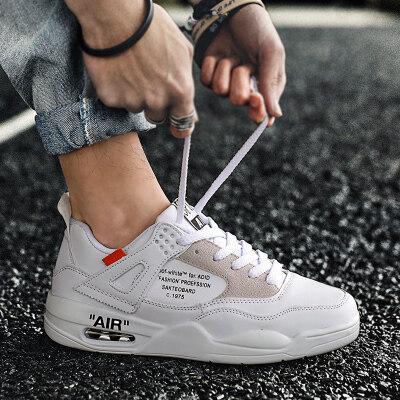 aj4男鞋潮鞋2019新款韩版潮流百搭增高运动休闲鞋夏季