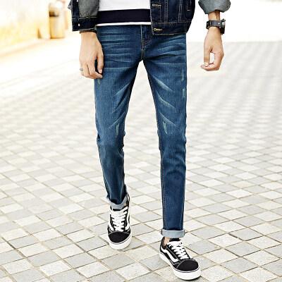 时尚英伦弹力修身小脚牛仔裤韩版潮休闲显瘦长裤男装青年铅笔裤子
