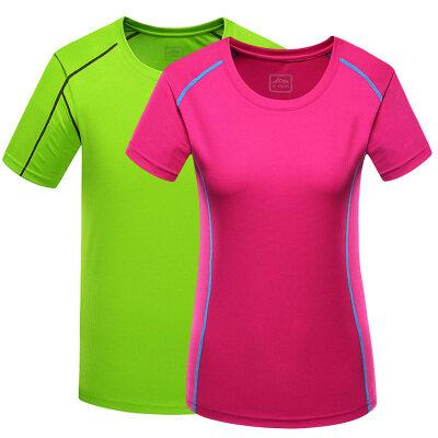 速干衣男短袖圆领跑步健身女大码夏季快干衣服户外运动t恤