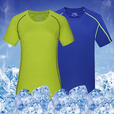 情侣速干衣男士短袖圆领跑步健身女大码夏季快干衣服户外运动t恤