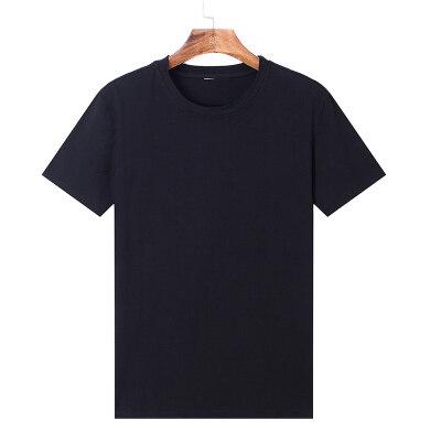 夏季纯色圆领纯棉短袖t恤男