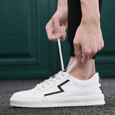 男鞋运动鞋男士夏季2019新款白色休闲鞋小白鞋子韩版男板鞋
