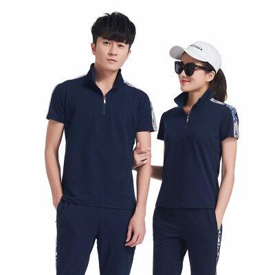 情侣运动套装男2019夏季短袖运动衣夏天薄款青年跑步运动服两