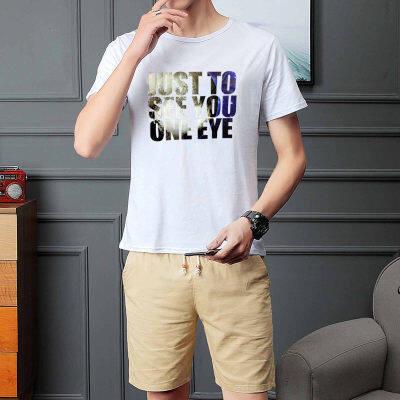 2019夏季短袖短裤纯棉运动休闲套装男低价跑量款