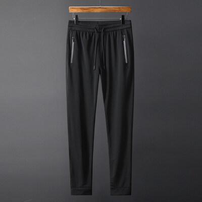 夏季运动裤男镂空网眼透气薄款冰丝速干小脚修身空调裤束脚休闲裤