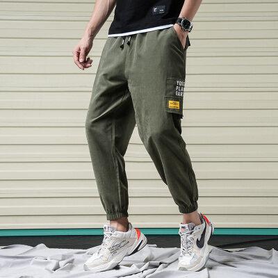 夏季ins潮牌工装裤男直筒宽松休闲裤韩版潮