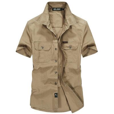 新款短袖衬衫男夏季薄款男装休闲加肥大码宽松短衬衣批发8808