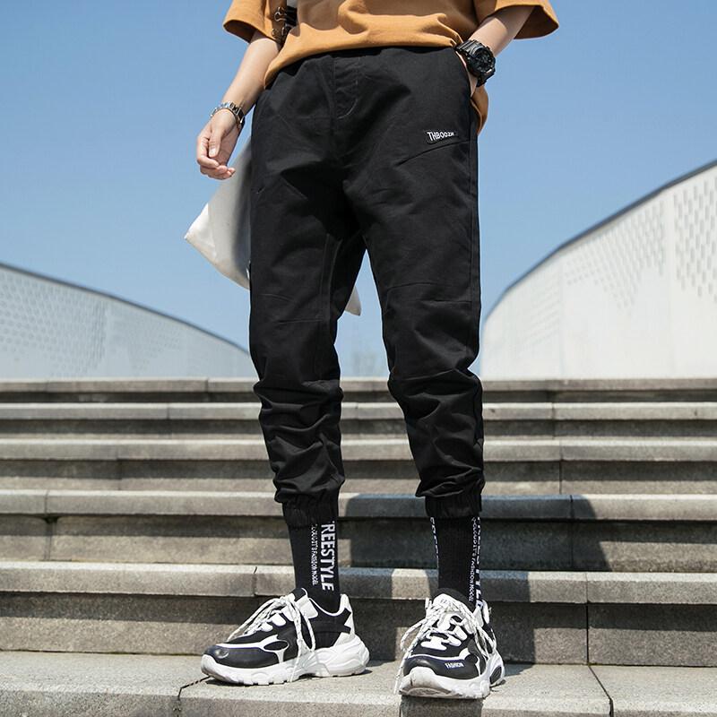 九分裤男士收口小脚修身夏季新款束腿运动休闲百搭薄款潮流裤子男
