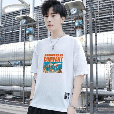 2019新款日系韩版时尚潮流男士圆领T恤衫印花可定制