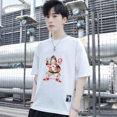 2019新款日系韩版男士圆领T恤衫时尚潮流短袖T恤图案可定制