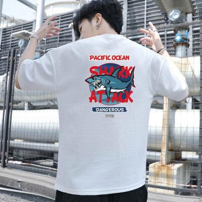 2019新款日系韩版男士圆领T恤衫时尚潮流印花可定制短袖T恤