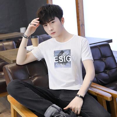 2019夏季休闲韩版薄款短袖T恤牛奶丝冰爽短袖T恤