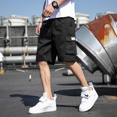 工装五分裤子男夏季纯棉沙滩运动休闲ins夏天韩版潮流宽松短裤