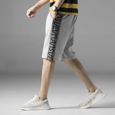 休闲五分裤2019新款男士短裤夏季运动裤子薄款潮流韩版休闲裤