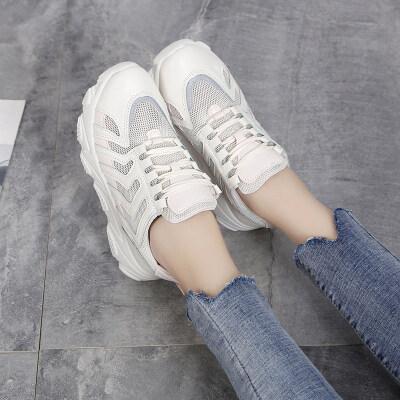 网鞋女鞋夏季透气防臭网面运动休闲鞋百搭2019新款潮流鞋子女