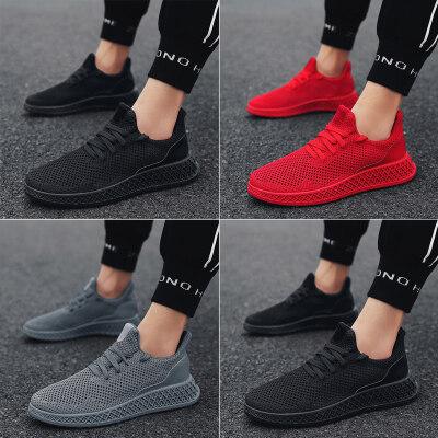 夏季4D打印飞织鞋网布鞋男运动鞋潮鞋椰子鞋 LKK177