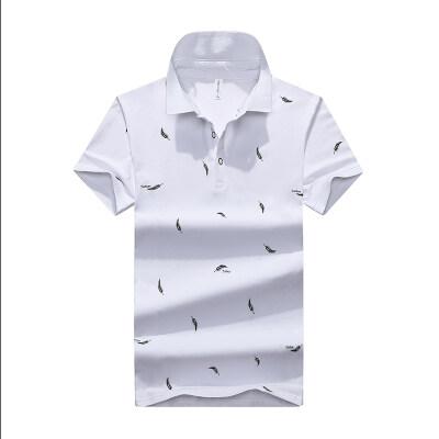 夏季短袖T恤男冰丝纯棉Polo衫时尚休闲体恤翻领潮流上衣