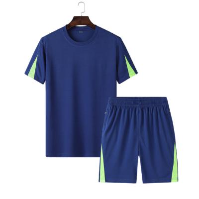 男士夏季新款休闲运动套装男五分裤男短袖透气跑步健身服两件套男