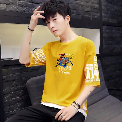 短袖t恤夏季韩版潮流宽松休闲帅气工装潮牌男士衣服夏装