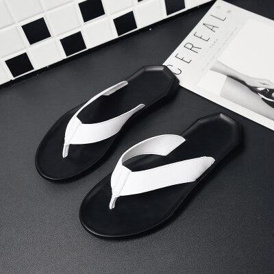 满足【T43】每人每日限购一双男士人字拖皮质柔软夹脚趾拖鞋
