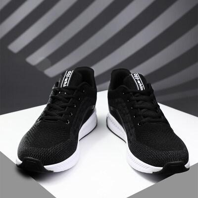 男鞋运动休闲鞋2019春夏季新款飞织网面跑步鞋韩版潮流鞋子