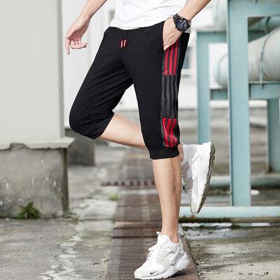 六分裤男士短裤韩版潮流夏天五分休闲裤男宽松潮牌夏天男生小脚裤