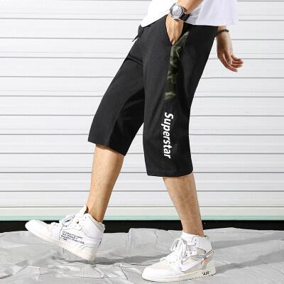 运动潮男短裤2019夏季薄款运动五分裤男士休闲裤宽松潮流潮牌