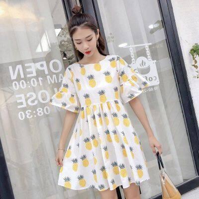 连衣裙女夏季2019新款学生小清新韩版仙女裙超仙甜美娃娃裙子