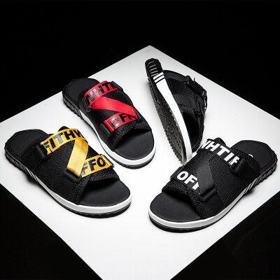 运动凉鞋男新款夏季韩版潮流休闲软底个性时尚网红沙滩拖鞋