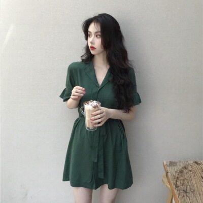 法国小众连衣裙桔梗气质显瘦少女减龄甜美遮肉宽松超仙名媛时尚款